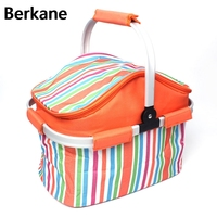 Portable Insulated Canvas Lunch Bag Fresh Thermal Food Picnic Lunch Bags For Women Kids Basket Cooler Lunch Box Bag Tote