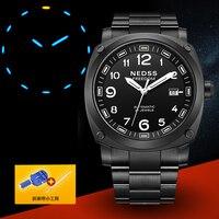 NEDSS Brand Man Male Fashion Classic Clock Date Day Sport Military Stylish Casual Business Automatic Mechanical