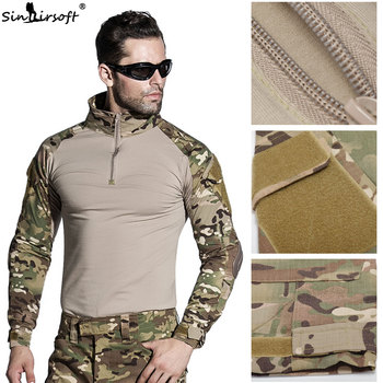 Multicam Uniform Army | SINAIRSOFT Python Camouflage Male T-shirts US Army Combat Tactical Military  Uniform Multicam Airsoft Paintball With Elbow Pads