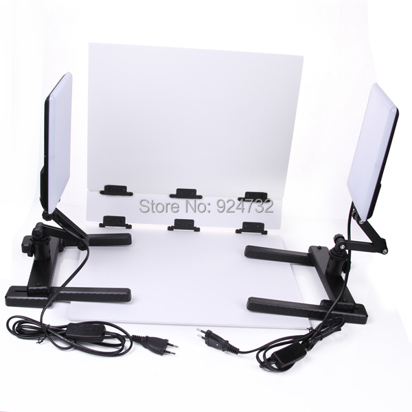 CN-T96 5600K LED Light Lamp 18W w/ Mini Shooting Table Background Paper Kit Set садово парковый светильник столб 2 100w e27 230v белый feron 6214 11077