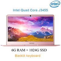 Rose gold 6G RAM 1024G SSD Intel Celeron J3455 18 Gaming laptop notebook desktop computer with Backlit keyboard