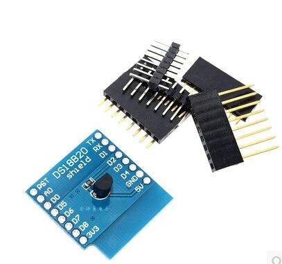 D62 DS18B20 อุณหภูมิ Sensor Shield D1 Mini D1 Mini Pro ESP NodeMCU