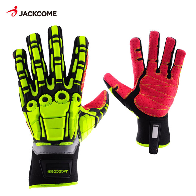 Oil and Gas Safety Gloves Anti Vibration Nylon Shock Mechanics Impact Oil and Water Resistant Fencing Sport Gloves 1