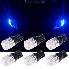 10 pcs Car LED Lights T10 3W Diamond Light W5W 194 Display Wide Lights lamp step lights