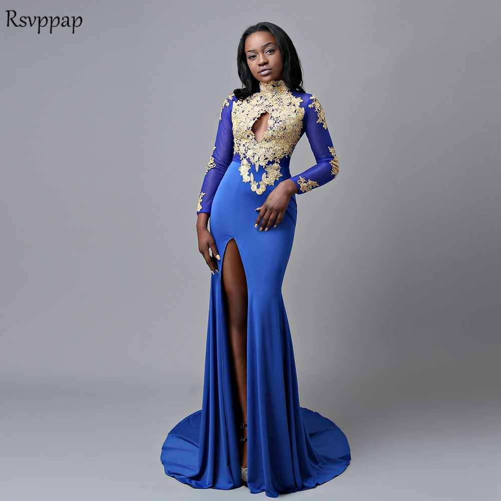 1d236a3a546 Royal Blue Prom Dress Mermaid