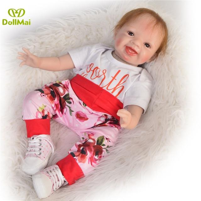 Bebes Reborn 22 inç 55 cm silikon yeniden doğmuş bebek bebek güzel kız yeniden doğmuş bebekler çocuk hediye oyuncak bebek bb yeniden doğmuş bonecas