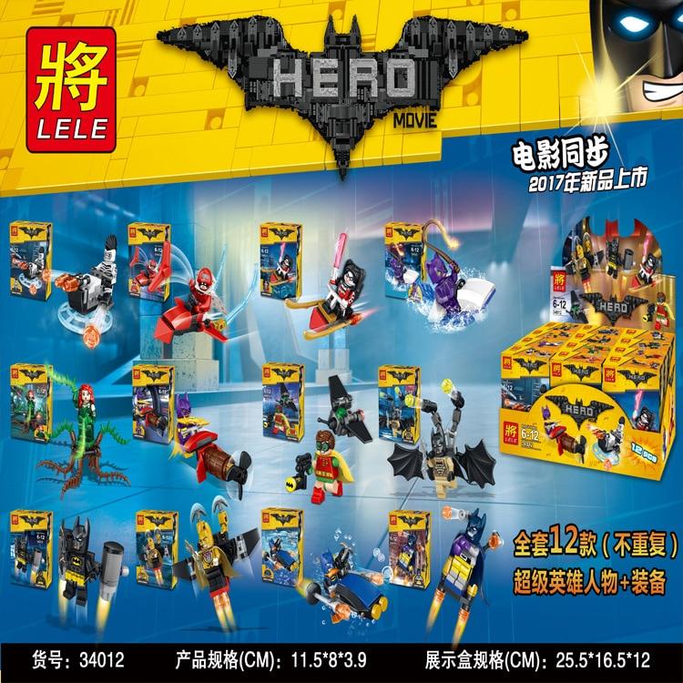 Super Heroes Movie Joker Poison Ivy Calendar of People Batman Robin Bricks Building Blocks Children Education Toys LELE 34012