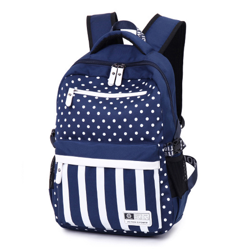 Cute Girl Backpacks For School Striped Oxford Backpack For Teen ...