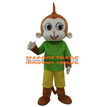 Hot Sale High Quality Green Monkey Mascot Costume Free Shipping(China)