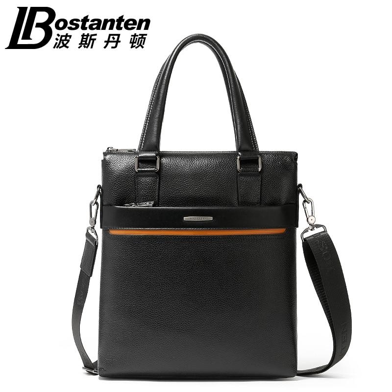 Free Shipping Botanten New Business Fashion Male Handbags Vertical Genuine Leather Shoulder Casual Messenger font b
