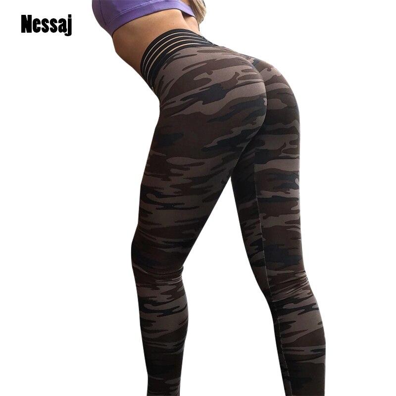 Nessaj Fashion Camouflage Printed   Leggings   Women Sexy Fitness Pants   Legging   Push Up Hips Sporting High Waist Workout   Leggings