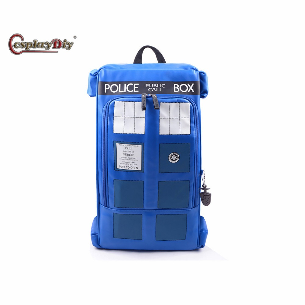 Cosplaydiy Doctor Who Police Backpack Adult Unisex Bag Cosplay Accessories J5