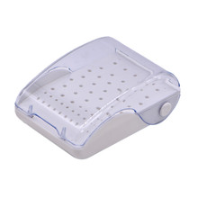 Dental Plastic Bur Box 60 Holes Drill Placement Tools Dentist Autoclave Sterilizer Case Disinfection Holder