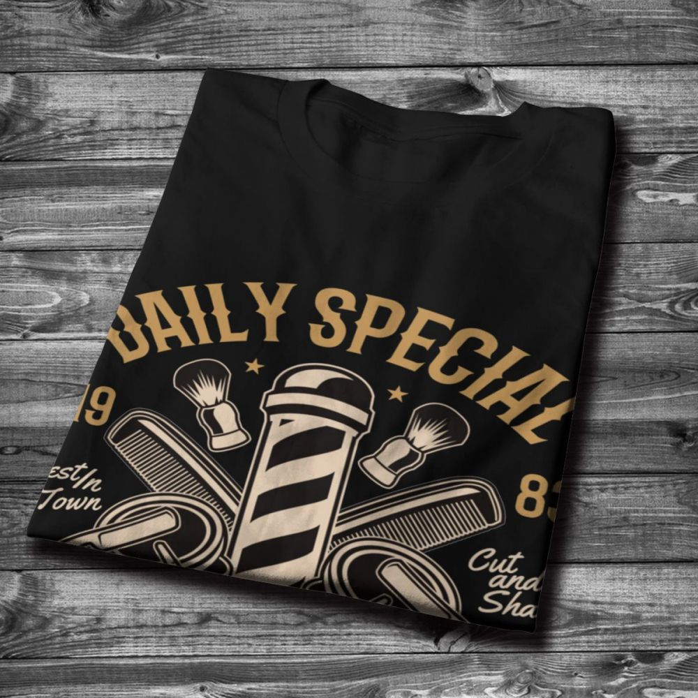 BARBER SHOP Daily Specials Tee Shirt For Man Popular O neck Natural Cotton Big Size T shirt in T Shirts from Men 39 s Clothing