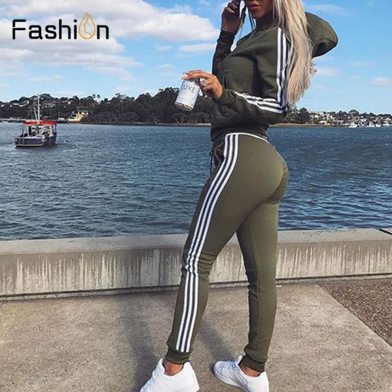 New 2019 2Pcs Women Set Ladies Tracksuit Crop Tops Hoodies Sweatshirt Pants Sets Lady Leisure Wear Casual Suit Plus Size