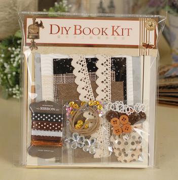 DIY Scrapbooking Kit 3D papírmatrica kézműves DIY Picture Album - Művészet, kézművesség és varrás