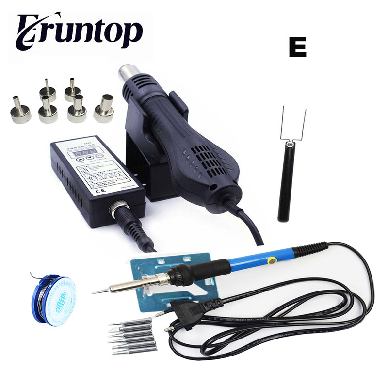 High quality 110V/220V Portable BGA Rework Solder Station Hot Air Blower Heat Gun 8858 8858 110v 220v portable bga rework solder station hot air blower heat gun better saike 8858