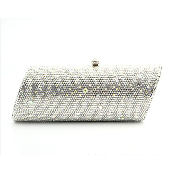 Women gold white champagne Crystal Evening Clutch Purse Hard Case Metal Minaudiere Handbag Bridal Wedding Party Bag gifts lady 8013d crystal lady fashion bridal night metal evening purse clutch bag case handbag box