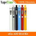 Original Joyetech eGo Aio D16 Start Kit 1500mAh Battery w/ 2ml Atomizer Tank BF SS316 0.6ohm MTL All In One Style Electronic Cig