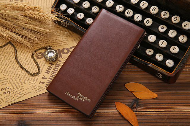 2015 Genuine Leather Male Organizer Bag Long Style Wallets Mini Coin Purse Men Wallet  on Sale 2