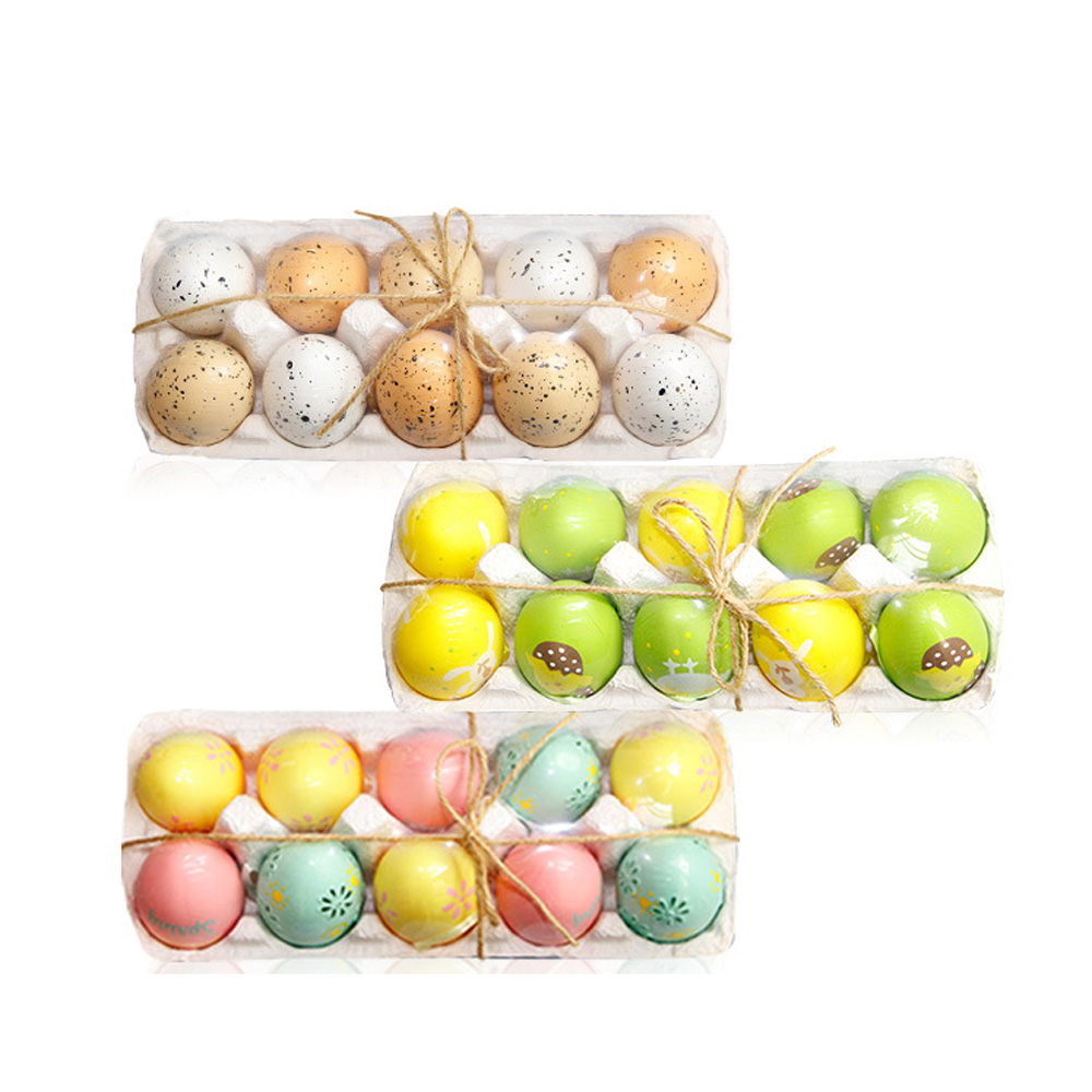 Easter DIY Egg Blow Molding Simulation Hanging Holiday Gift Decoration Plastic Eggs Grid