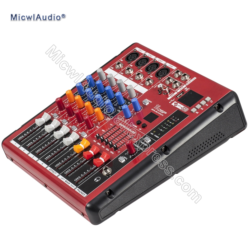 4 Channel Console Digital Mixer for DJ Recording Studio Stage Mixing with USB Recording 16DSP Bluetooth Microphone staraudio pro 4 channel 2000w live studio dj stage amplifier powered mixer with mp3 bluetooth usb sd 16 dsp smx 4000b