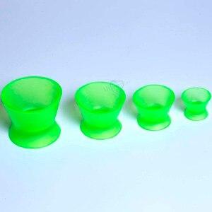Image 2 - Tigela de mistura de silicone, 4 unidades, novo laboratório dental ecológico, tigela, copo, tigela de mistura, equipamentos médicos dentários de borracha, tigela de mistura