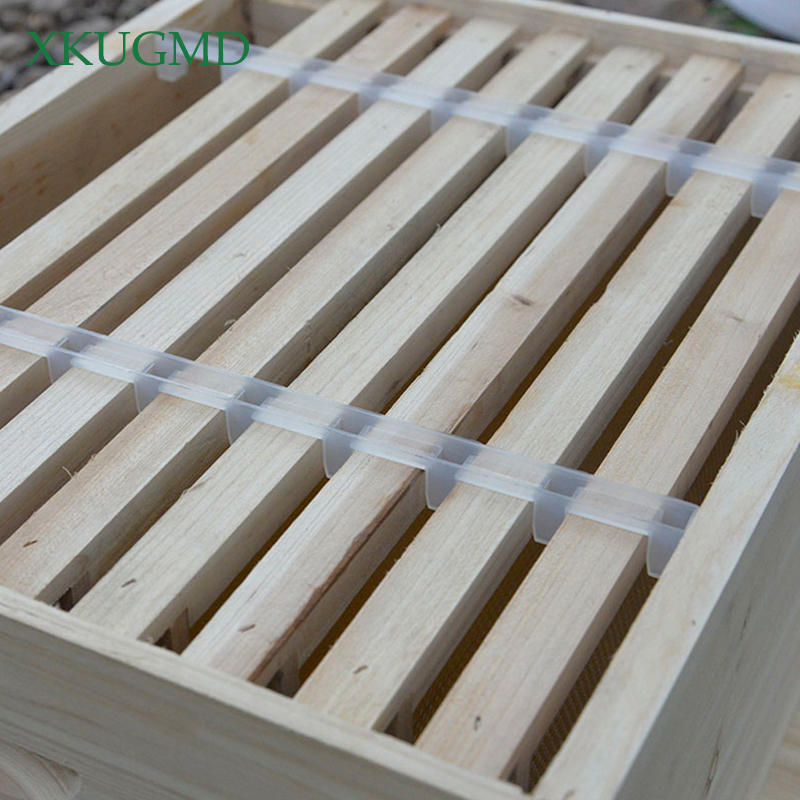 5pcs Beekeeping Bar Bee Hive Frame Nest Box Card Strip Avoid Agitation Plastic White Interval 36cm Anti Shaking For Beehive Fram