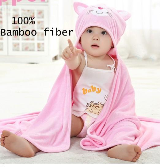 2 unids/lote toallas De fibra de Bambú toalla con capucha para Bebé con capucha para banho infantil bebes accappatoio neonato kid towls