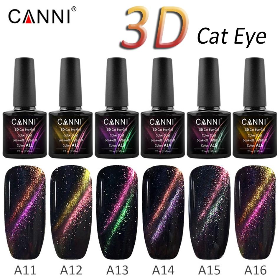 CANNI 7.3ml 3D Cat Eye Gel Polish Nail Art Hybrid Varnish