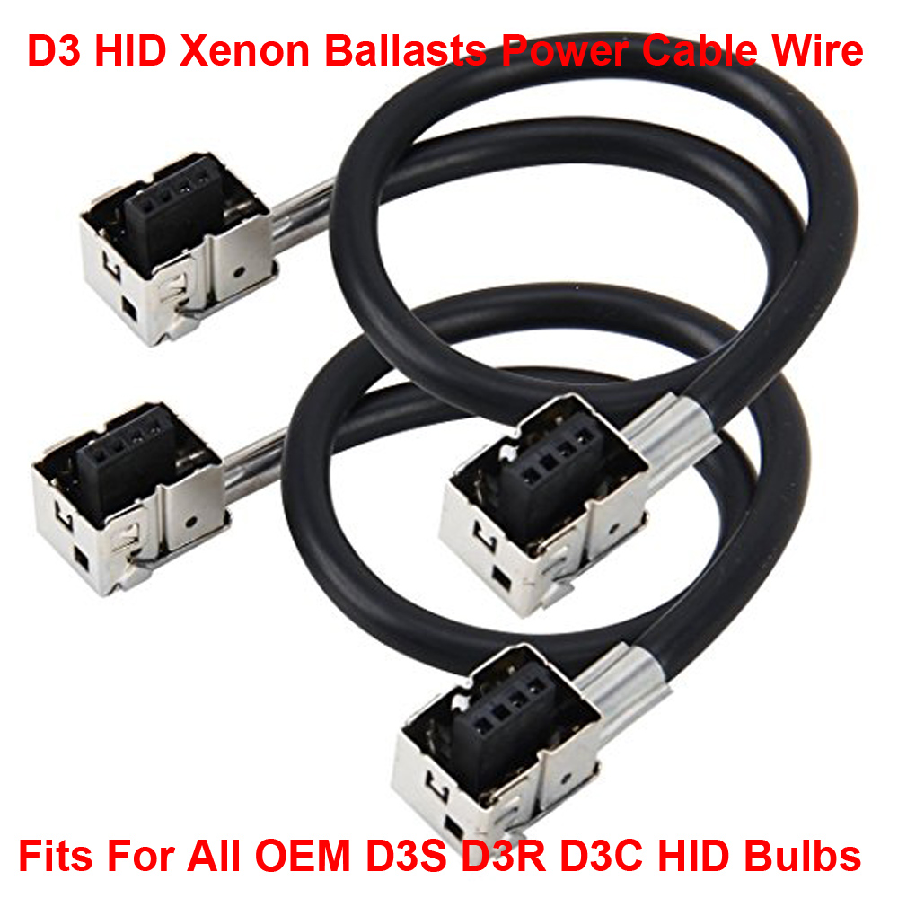 2pcs D3 D3s D3r D3c Oem Hid Xenon Headlight Bulbs Lamps Ballasts Wiring Harness Wire Cable Adapter Holder Socket Plug N Play In Car Bulbsled