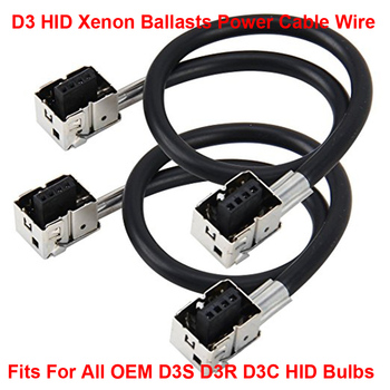 2PCS D3 D3S D3R D3C OEM HID Xenon Headlight Bulbs Lamps Ballasts Wire Harness Cable Adapter Holder Wiring Socket Plug N Play image