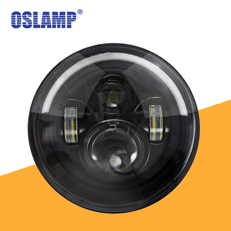 Oslamp 60W Round LED 7 Inch Headlights Lamp Halo Angle Eyes for Jeep Wrangler JK LJ TJ Truck 4x4 Off road Vehicle Motorcycle