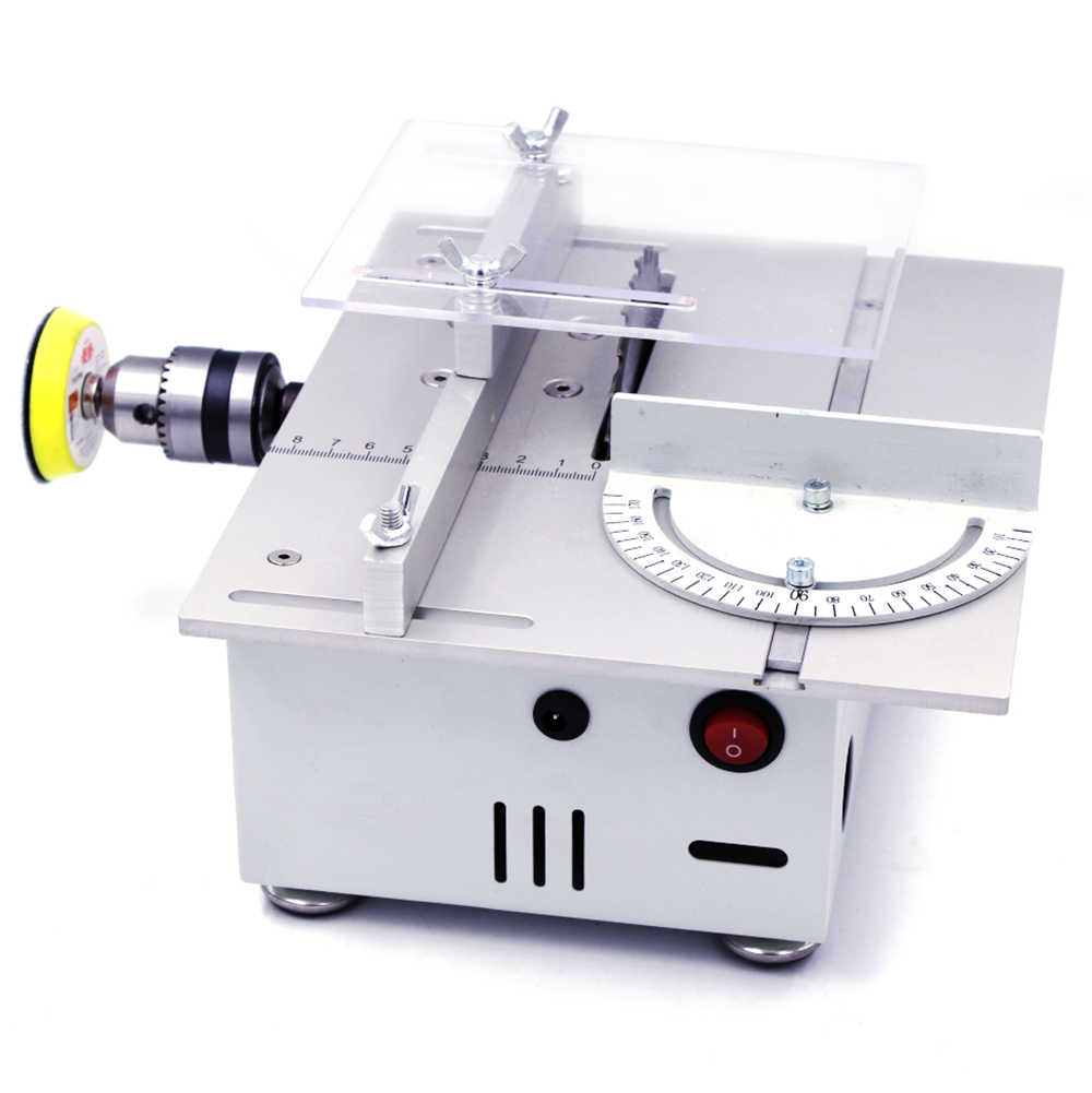 Mini Table Saw Cutter Handmade Grinding Polishing Bangku Saw DIY Model Pemotongan Melihat Mesin Woodworking Alat Logam Bingkai