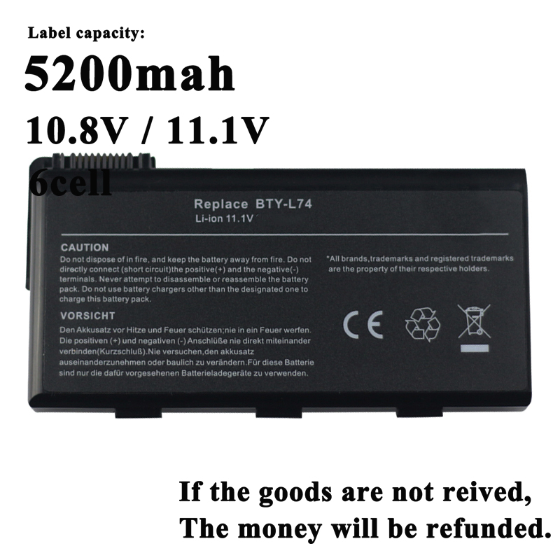 Laptop Battery For <font><b>Msi</b></font> CX620 CX620MX CX620X CX623 CX623X CX630 CX700 CX700X CX705 CX705X CX720 <font><b>GE700</b></font> CR700 CR620 A7200 image