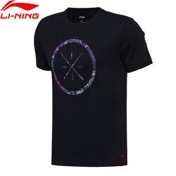 Li-Ning Men's Wade Basketball Jerseys Short Sleeve 100% Cotton Breathable Comfort LiNing T-Shirt Sports Tees AHSM319 MTS2660