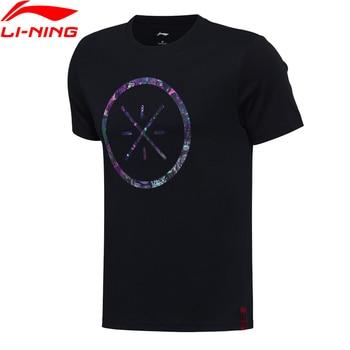 Li-Ning uomo Wade Basket Maglie Manica Corta 100% Cotone Traspirante Comfort T-Shirt Fodera Sport Magliette AHSM319 MTS2660