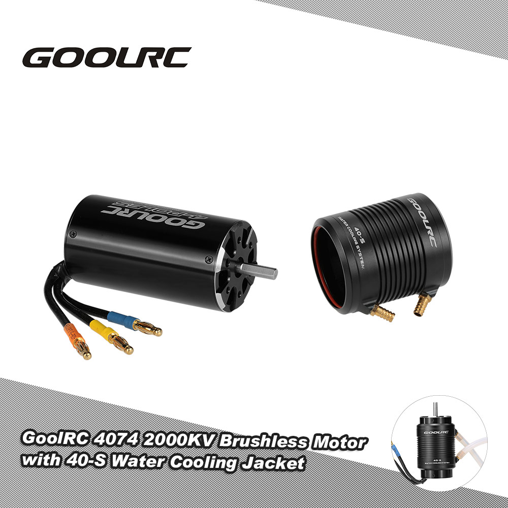 GoolRC 4074 2000KV Brushless Motor & 40-S Water Cooling Jacket Combo Set for 1000mm Above RC Boat Speedboat Ship Model Part 1pc cnc aluminum motor water cooling jacket for b20 b28 b36 b40 id 20mm 28mm 36mm 40mm rc boat brushless motor