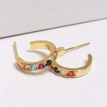 все цены на mini 10mm Huggie hoop earring for women vermeil 925 sterling silver fine jewelry dainty delicate small hoop earrings онлайн