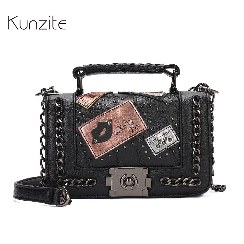 Kunzite New 2017 Luxury Handbags Women Bags Designer Famous Brand Chains Girls Messenger Bags Crossbody Shoulder Bags Sac A Main