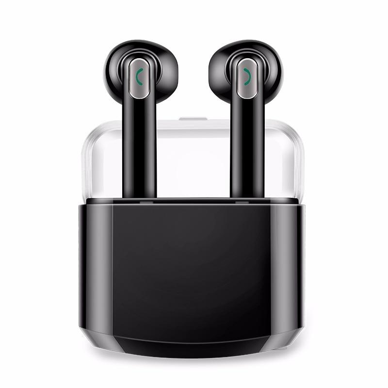 Hestia Bluetooth Headset Mini Wireless Earphone With Charging box Mic Portable Stereo Handsfree Headset For iPhone Xiaomi hestia i8 bluetooth headset with 900 mah charge box wireless earphones handsfree headphones with microphone for iphone xiaomi