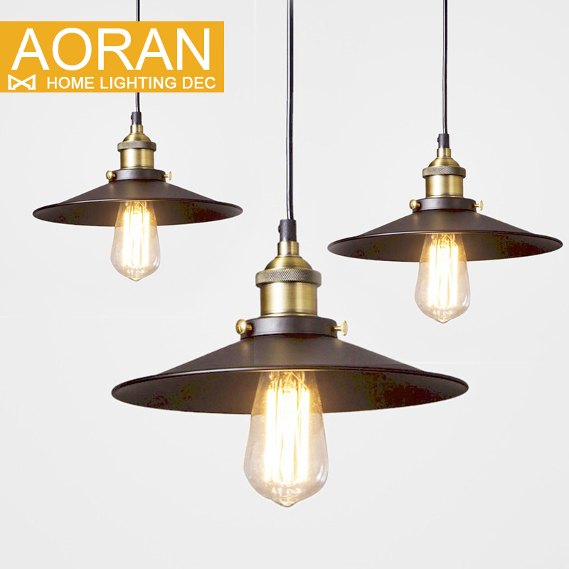 Loft american vintage pendant lights copper lamp holder for Loft americain