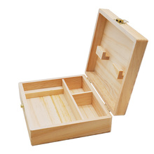 1pc Nature Wooden Rolling Supreme Smoking Gift Set Grinder Raw King size Paper Tips Pipe Box 17*15*6cm