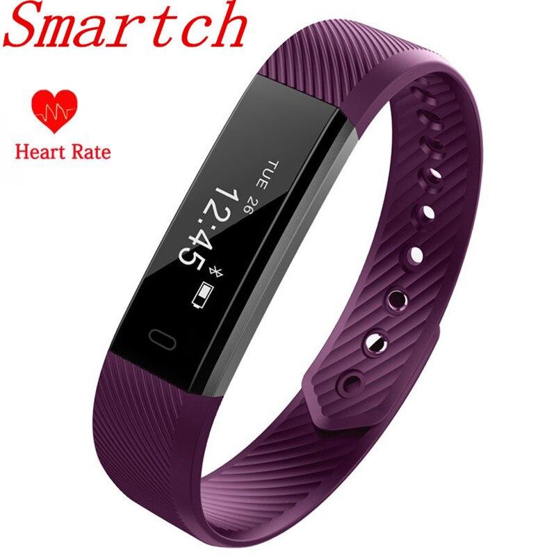 EnohpLX ID115 HR Armband Pulsmesser Smart Armband Band FitnessTracker Wasserdichte Bluetooth für Android IOS VS Fitbits