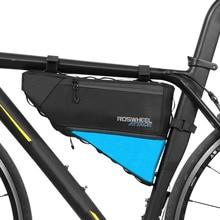 ROSWHEEL ATTACK серия велосипедная сумка Топ передняя рама труба треугольная сумка 4L Водонепроницаемый Открытый велосипед аксессуары Прямая