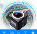 "X360 Action camera Wifi Full HD 1080P 360 Camera H.264 2.0"" Screen Waterproof Kamera Wide Angle Mini  DV DVR Video Camcorder"