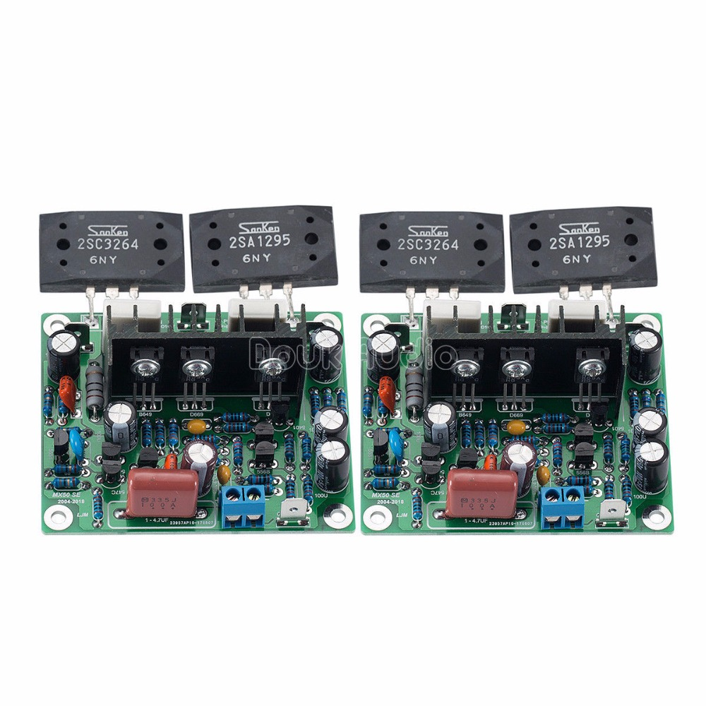 Douk Audio Stereo MX50 SE 2-Channel Power Amplifier DIY Kit & Assembled Board stereo audio amplifier 2 x 40w