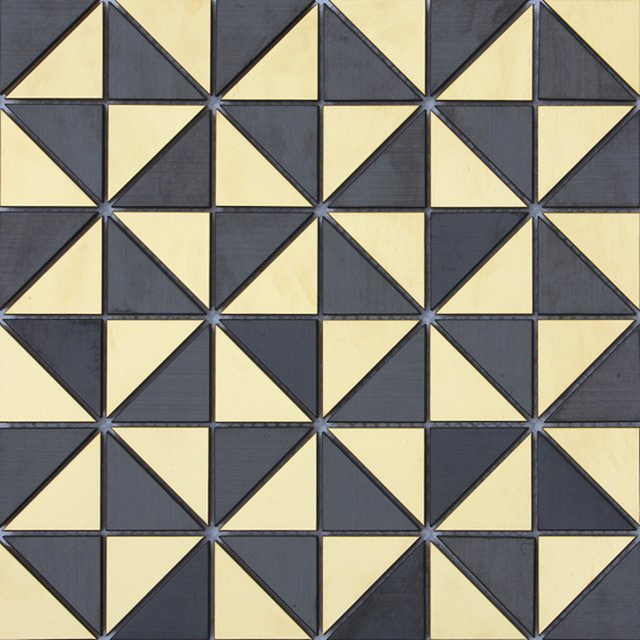 Brushed Triangle Black Gold Silver Stainless Steel Metal Mosaic Tile For Wall Tiles Kitchen Backsplash Bathroom Shower