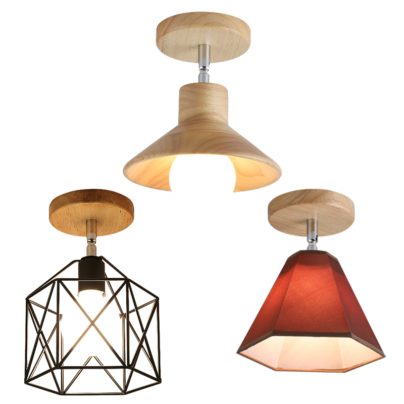 Pendant Light Cover: E27 Iron 5W Iron Ceiling Lamp Shade Pendant Light Covers