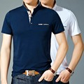 2016 Summer Male Short-Sleeve Polo Shirt Slim Turn-Down Collar Polo Shirt Casual Mens Basic Polo Homme